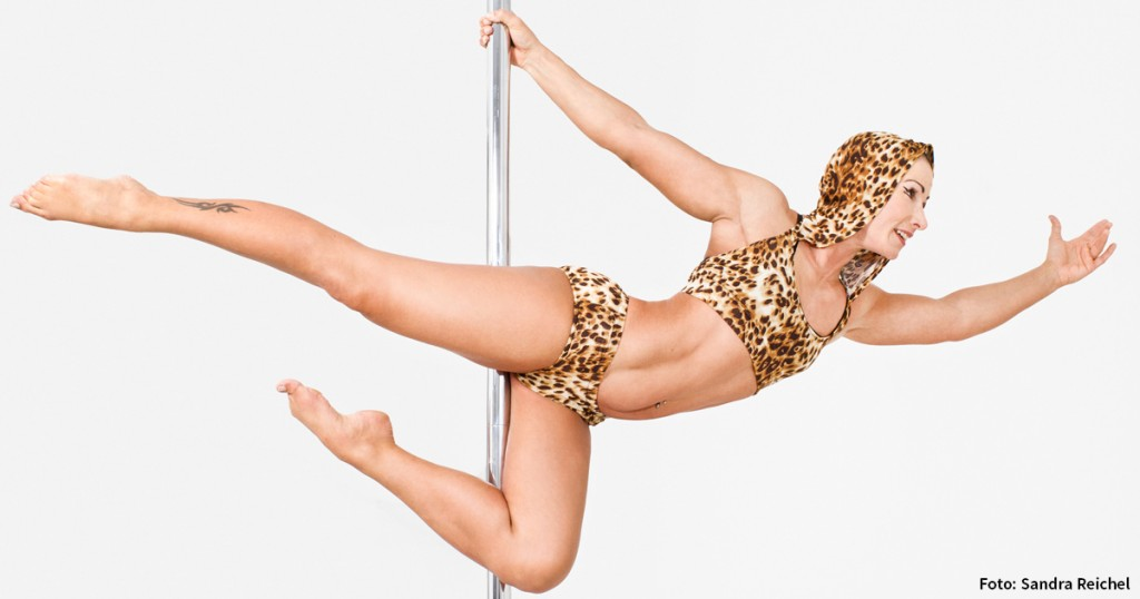 Pole-Dance-Trainerin Nadine Rebel
